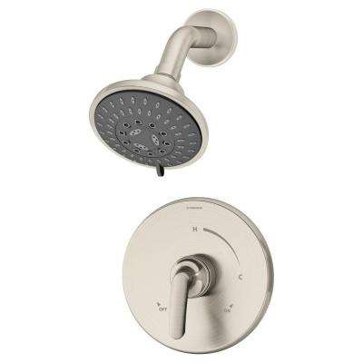 Elm 1-Handle 3-Spray Shower Faucet System in Satin Nickel (Valve Included)