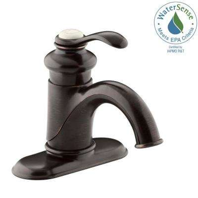Fairfax Single Hole Single-Handle Mid-Arc Water-Saving Bathroom Faucet in Oil-Rubbed Bronze