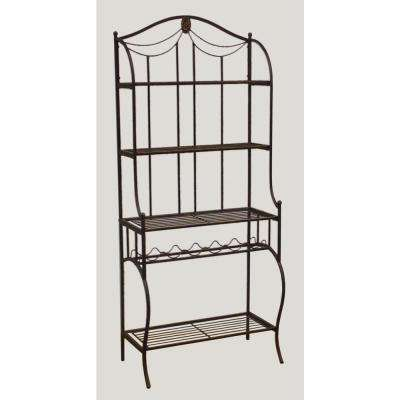 Camelot Black Gold Baker's Rack