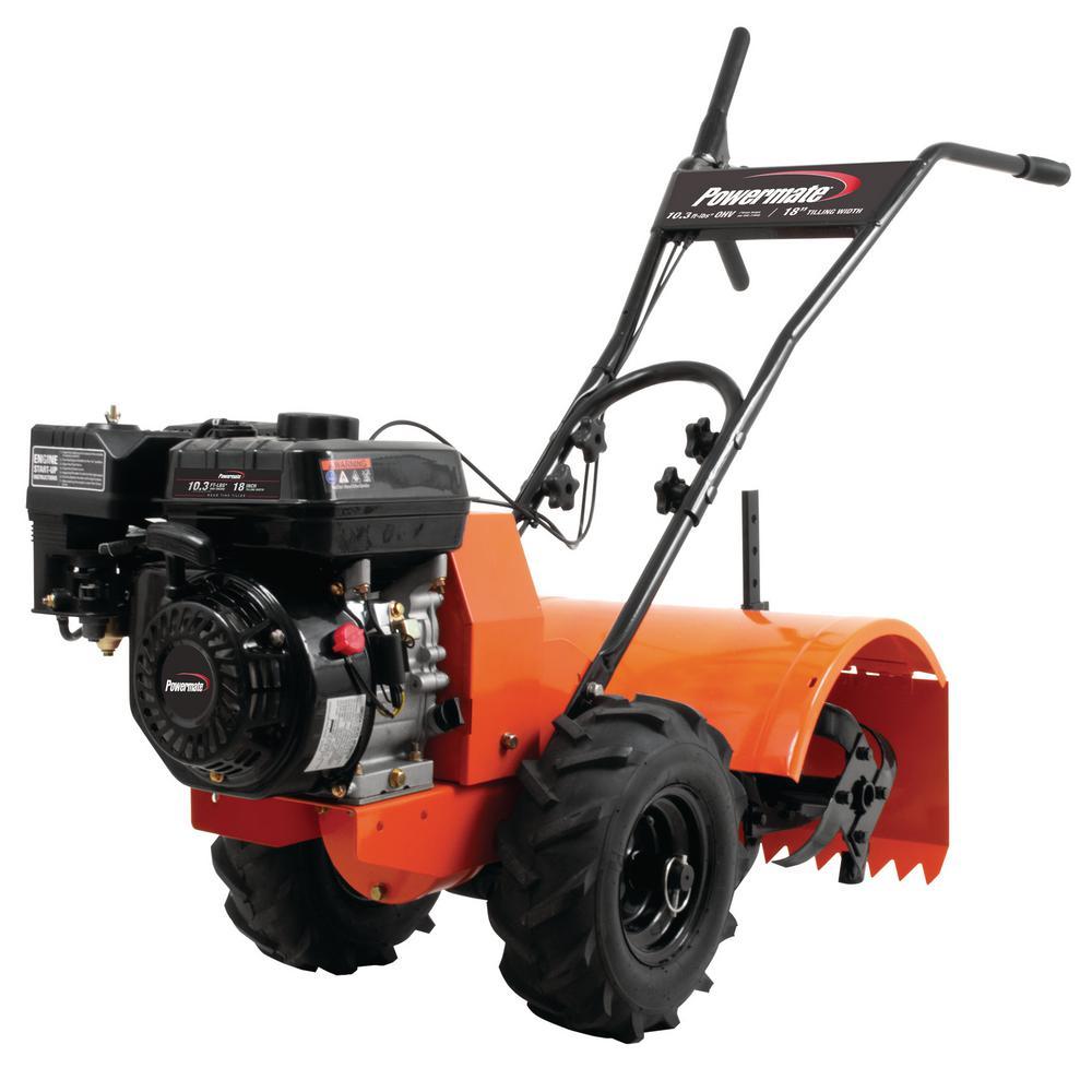 Powermate Powermate 18 in. 212 cc Gas 4-Cycle Rear Tine Tiller