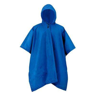 XT Series One Size Navy Blue Adult Rain Poncho