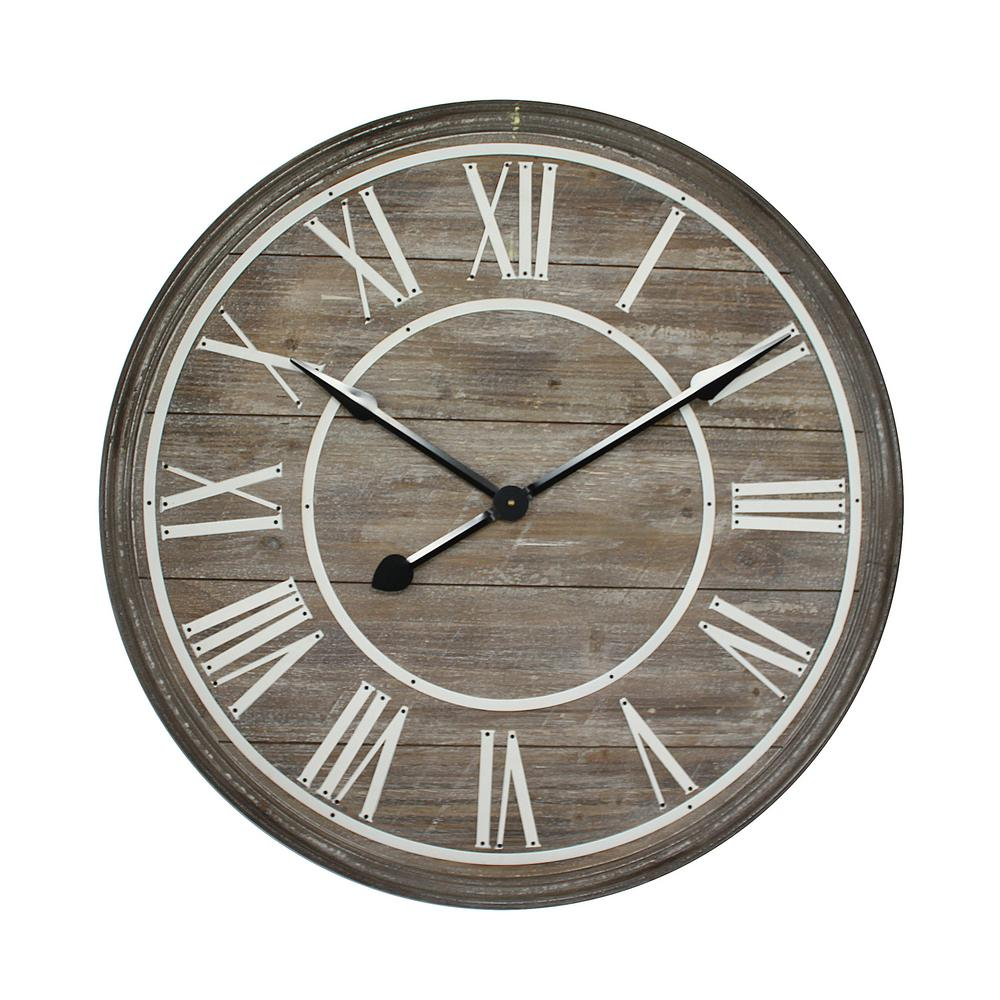 Yosemite home decor rustic age distressed brown oversized wall yosemite home decor rustic age distressed brown oversized wall clock amipublicfo Choice Image