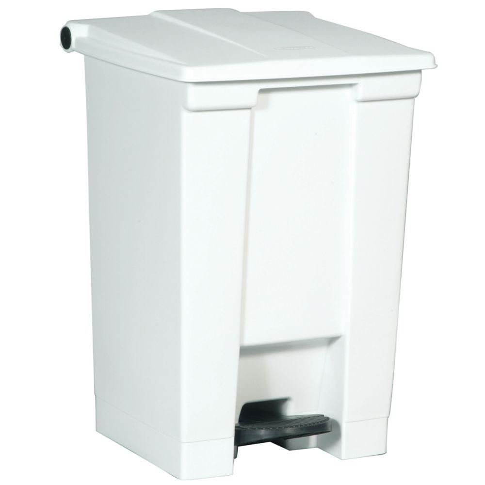 Rubbermaid Commercial Products 12 Gal. White Fire-Safe Step-On Trash Can