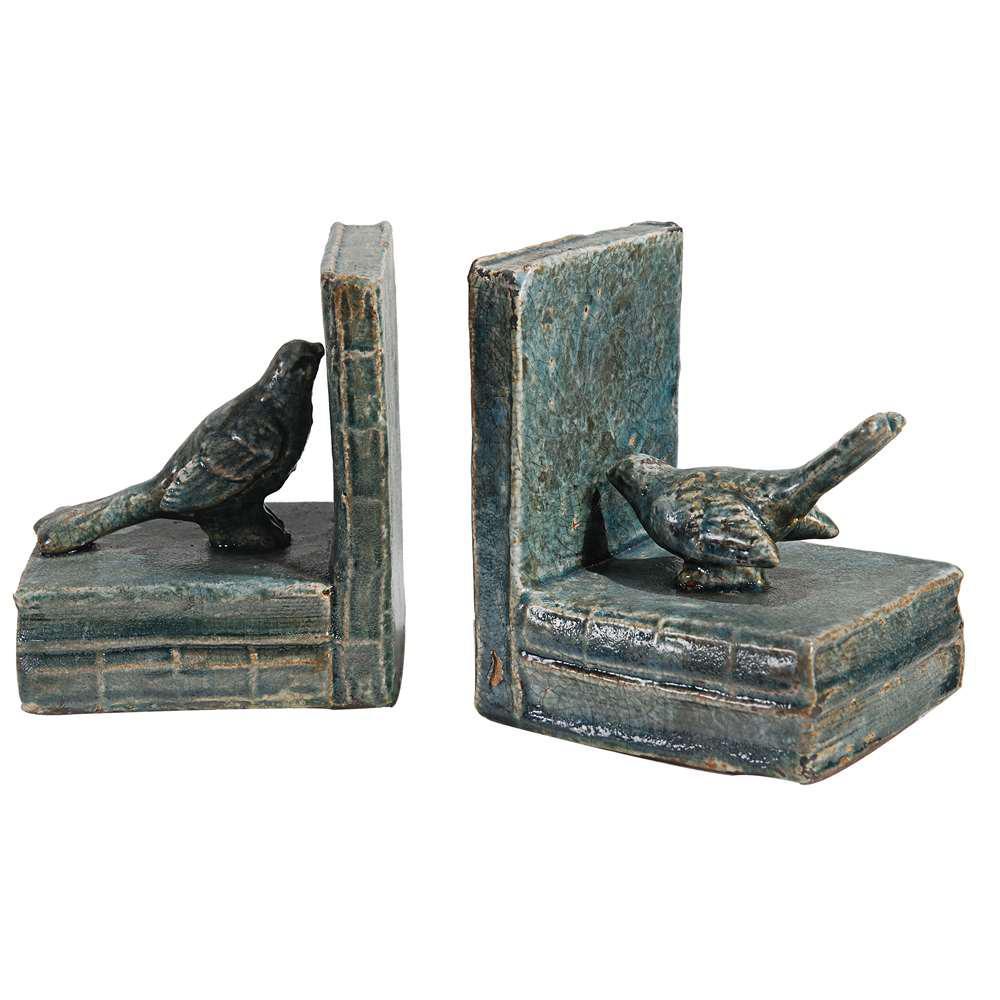 5 in. x 6 in. Decorative Bird Bookends (2-Pack)