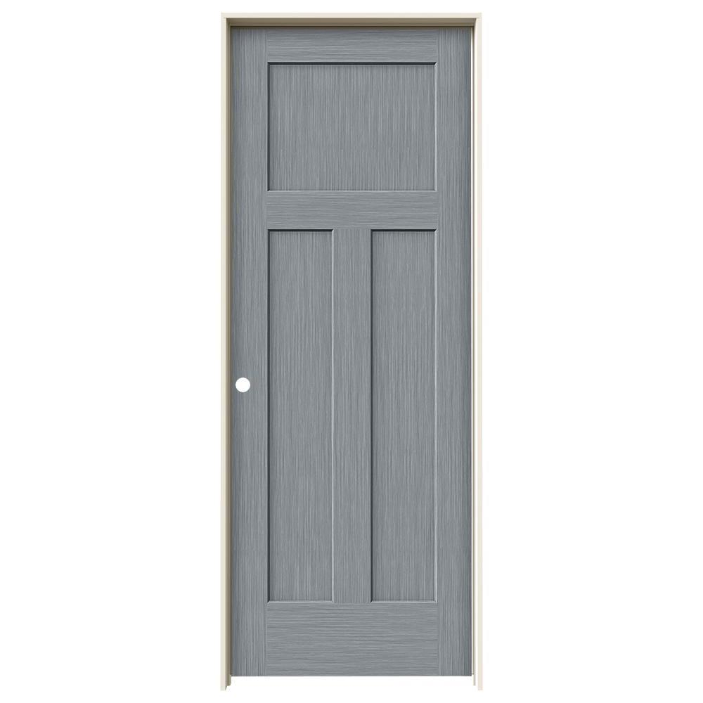 Jeld Wen 32 In X 80 In Craftsman Stone Stain Right Hand Solid Core Molded Composite Mdf Single
