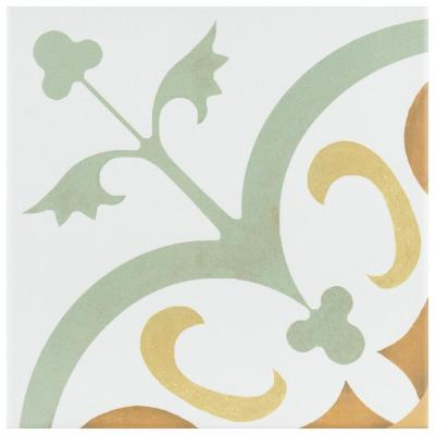 Revival Memory Encaustic 7-3/4 in. x 7-3/4 in. Ceramic Floor and Wall Tile