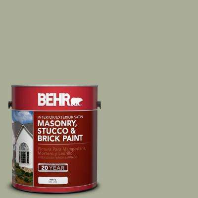 1 gal. #S380-4 Bay Water Satin Interior/Exterior Masonry, Stucco and Brick Paint