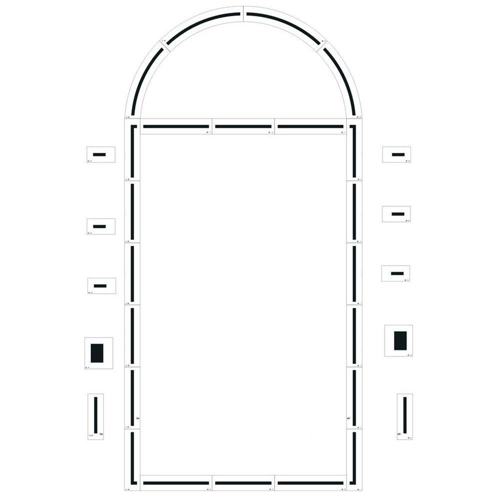 stencil ease basketball court stencil with basic cc0305 the home depot