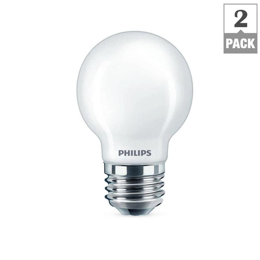 40-Watt Equivalent G16.5 Dimmable LED Light Bulb Soft White Frosted Globe (2-Pack)