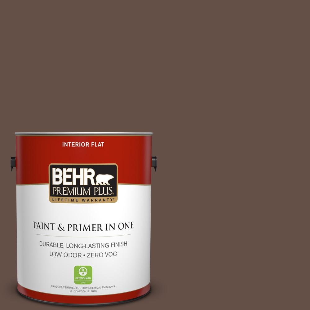 BEHR Premium Plus 1-gal. #BXC-79 Center Earth Flat Interior Paint