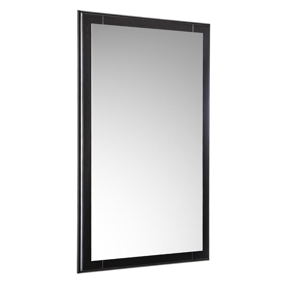 Fresca Oxford 20 in. W x 32 in. H Framed Wall Mirror in Espresso