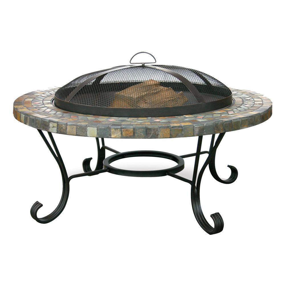 UniFlame 34 In. Slate Tile Fire Pit