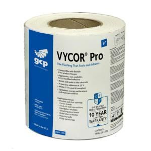 Vycor Pro 9 in. x 75 ft. Roll Fully-Adhered Butyl Flashing Tape (56 sq. ft.)