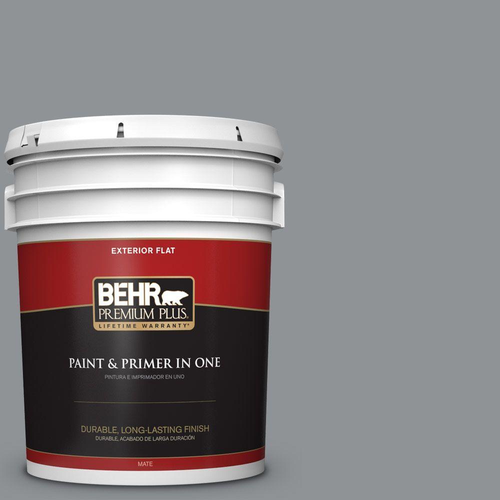 BEHR Premium Plus 5-gal. #770F-4 Gray Area Flat Exterior Paint