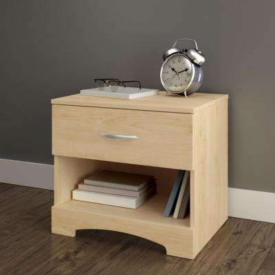 Step One 1-Drawer Nightstand in Natural Maple