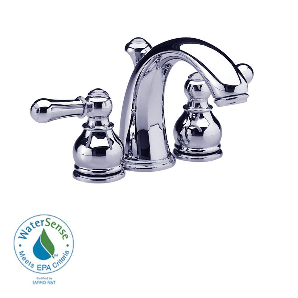American Standard Hampton 4 in. Minispread 2-Handle Mid-Arc Bathroom Faucet in Chrome-DISCONTINUED