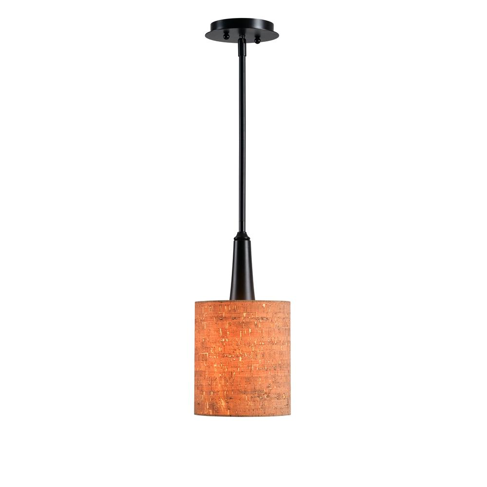 1light oil rubbed bronze adjustable mini pendant with handbl