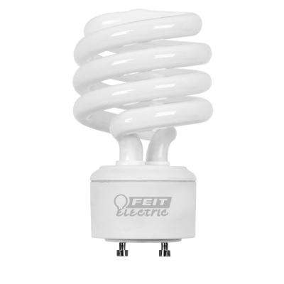 100W Equivalent Cool White (4100K) Spiral GU24 CFL Light Bulb