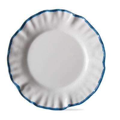 Ruffle Rim White Melamine Salad Plate (Set of 4)