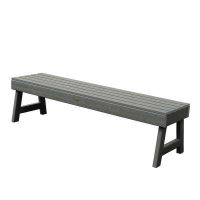 Weatherly 60 in. 2-Person Coastal Teak Recycled Plastic Outdoor Picnic Bench
