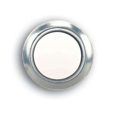 Wired LED Lighted Door Bell Push Button Insert, Nickel