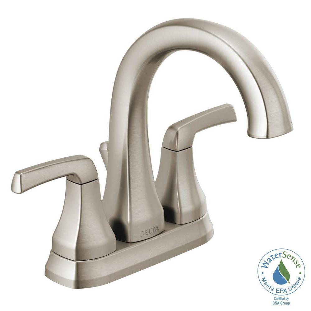 delta portwood 4 in. centerset 2-handle bathroom faucet in
