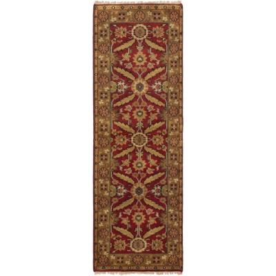 Royal Mahal Red 2 ft. 6 in. x 8 ft. 3 in. Border Runner Rug