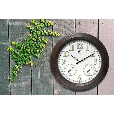 Radiant Reader 18.5 in. x 18.5 in. Round Wall with Built in Hygrometer and Thermometer Clock