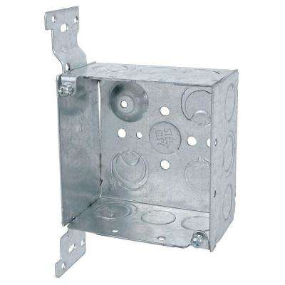 4 in. Steel Square Outlet Box with CV Bracket (Case of 25)