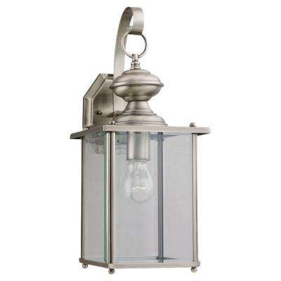 Jamestowne Collection 1-Light Antique Brushed Nickel Outdoor Lantern