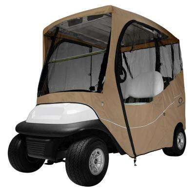 Fairway Short Roof Travel Golf Car Enclosure Khaki