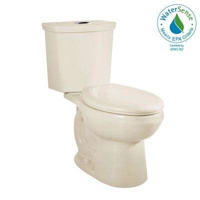 H2Option 2-piece 0.92/1.28 GPF Dual Flush Elongated Toilet in Linen, Seat Not Included