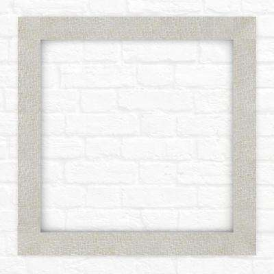33 in. x 33 in. L2 Square Mirror Frame in Stone Mosaic