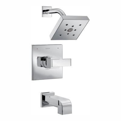 Ara 1-Handle Tub and Shower Faucet Trim Kit in Chrome Featuring H2Okinetic (Valve Not Included)