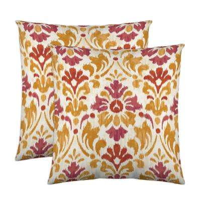 Sasha 18 in. x 18 in. Sorbet Decorative Pillow (2-Pack)