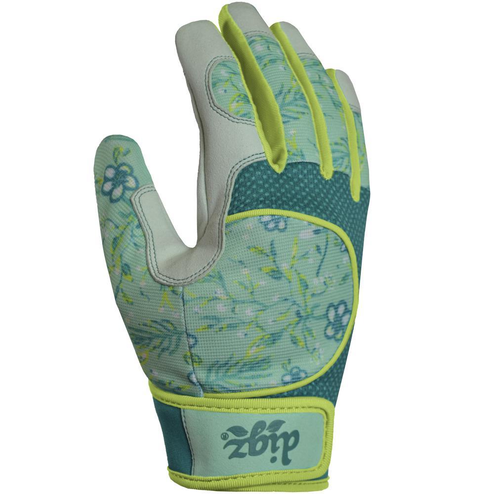 Digz Digz Gardener Large Glove, Women's, Green