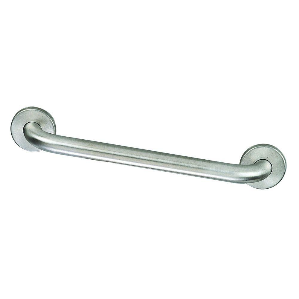 Design House 16 in. x 1-1/2 in. Concealed Screw Safety Grab Bar in Satin Nickel