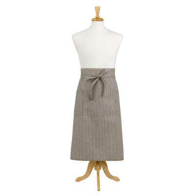 Railroad Stripe Denim Adult Bistro Apron