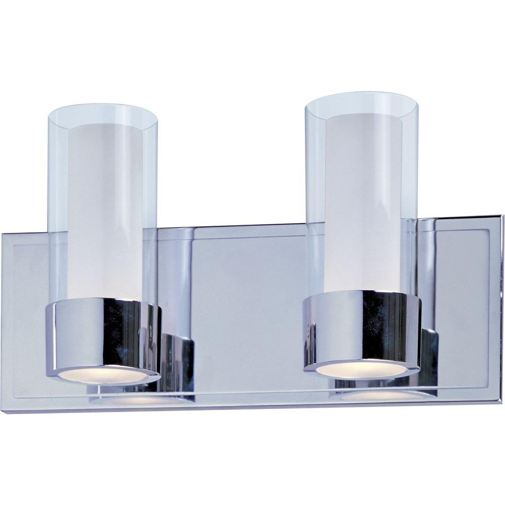 Silo 2-Light Polished Chrome Bath Vanity Light