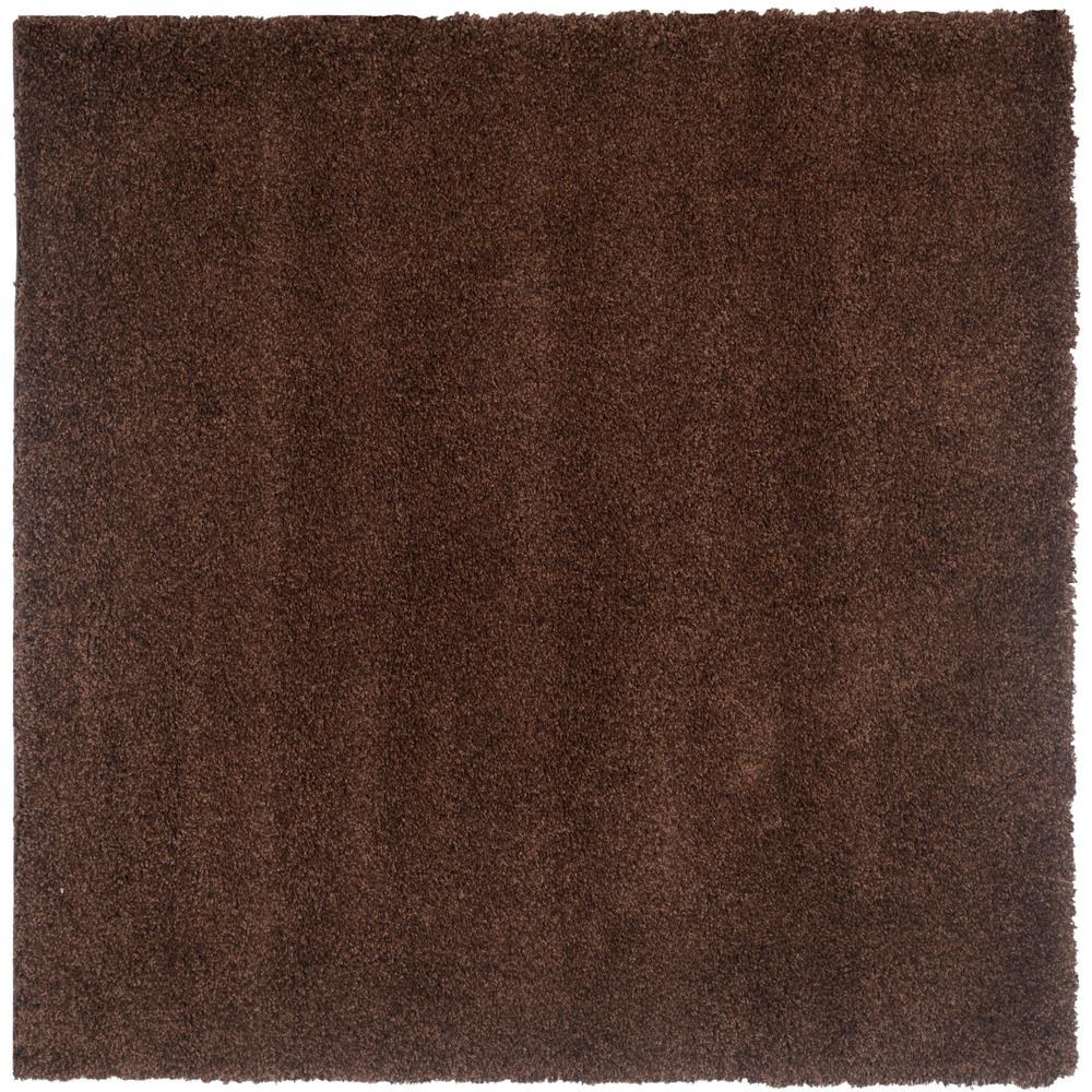 California Shag Brown 7 ft. x 7 ft. Square Area Rug