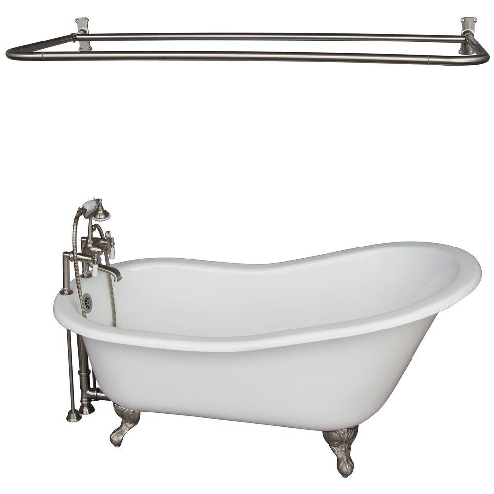 Cast Iron Ball And Claw Feet Slipper Tub In White With