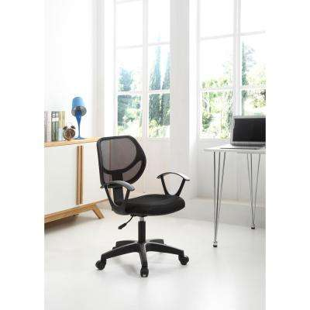 Black Mesh Mid Back Office Chair