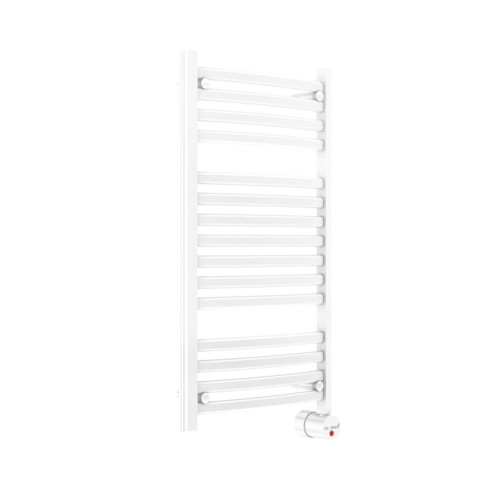 13-Bar Wall Mounted Electric Towel Warmer with Digital Timer in White