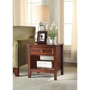 Linon Home Decor Wander Cherry Storage End Table by