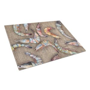 Shrimp Tempered Glass Large Heat Resistant Cutting Board