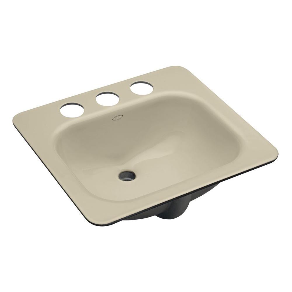 Cast Iron Bathroom Sinks Undermount: KOHLER Tahoe Undermount Cast Iron Bathroom Sink In Almond