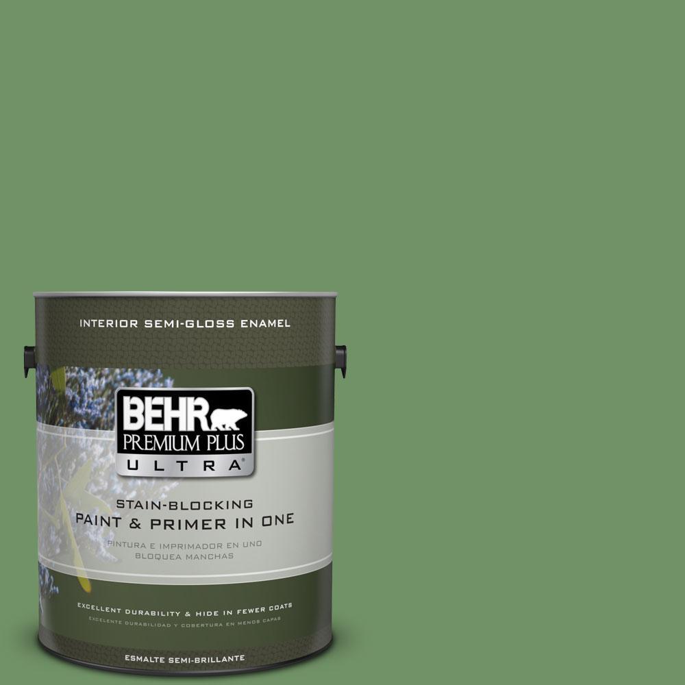 BEHR Premium Plus Ultra 1-gal. #M400-6 Mixed Veggies Semi-Gloss Enamel Interior Paint