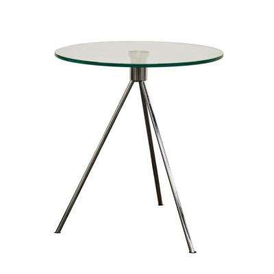 Triplet Clear Glass Top End Table