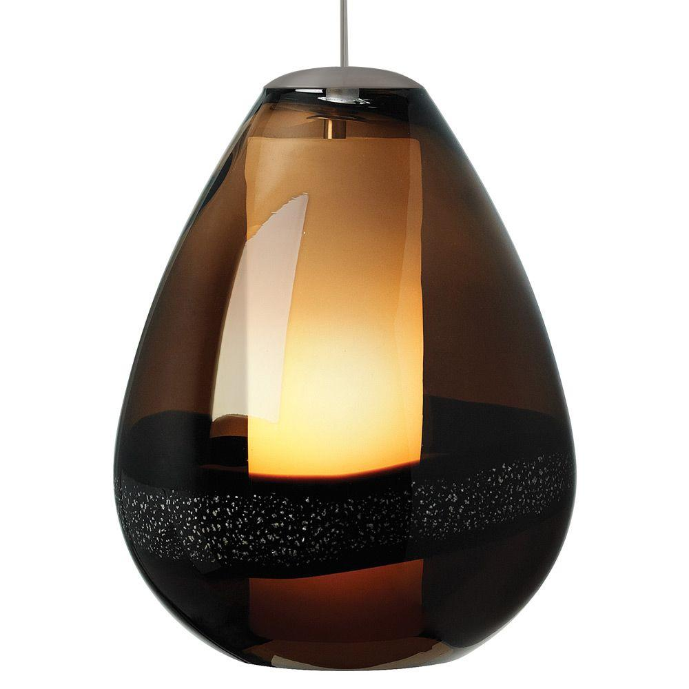 LBL Lighting Miyu 1-Light Bronze Dark Brown Incandescent Hanging Pendant