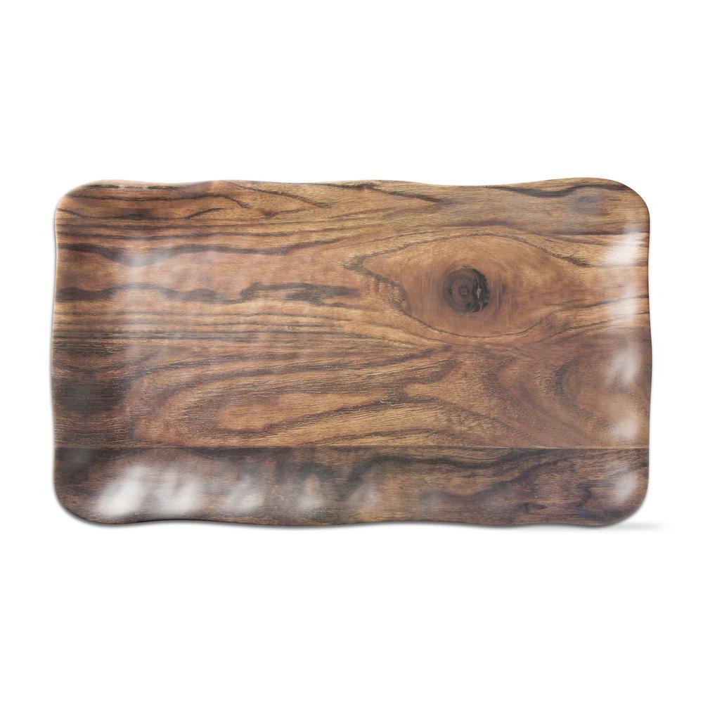 Barnwood 1-Piece Brown Melamine Platter